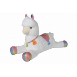 Lama blanc allongé, 60cm