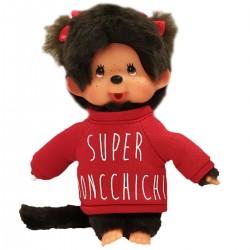 Monchhichi Sweat rouge, 20cm