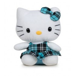 Hello Kitty, kilt bleu, 14cm
